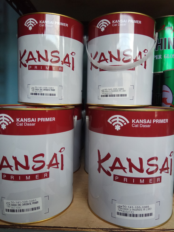 Jual KANSAI ZINC CHROMATE PRIMER 5KG - GREY 155 / CAT DASAR KAYU DAN