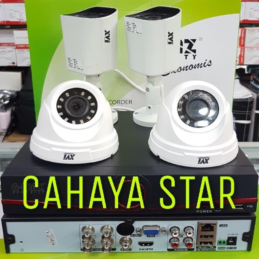 Jual PAKET CCTV 4CH DVR AHD X-MEYE 1080P 6IN1 FULL AHD