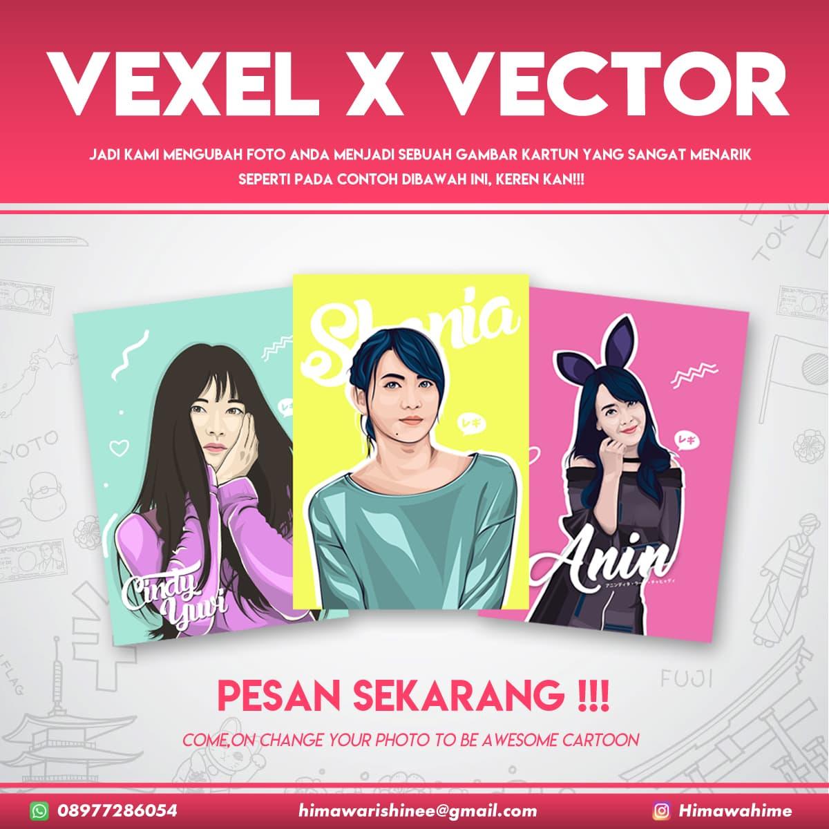 Jual Vector Vexel Edit Foto Kartun Vektor Art Soft Copy Kado