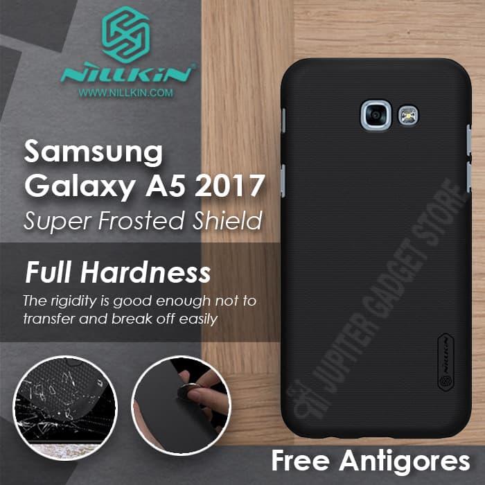 Jual Samsung Galaxy A5 2017 (A520) Nillkin Hard Case Black |Free Antigores -