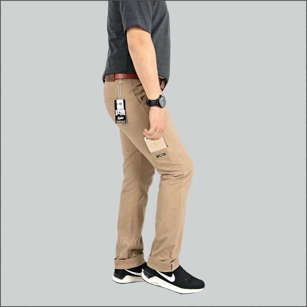 Jual celana chino pria || chinos pocket - Black, 30 - arlyfact | Tokopedia