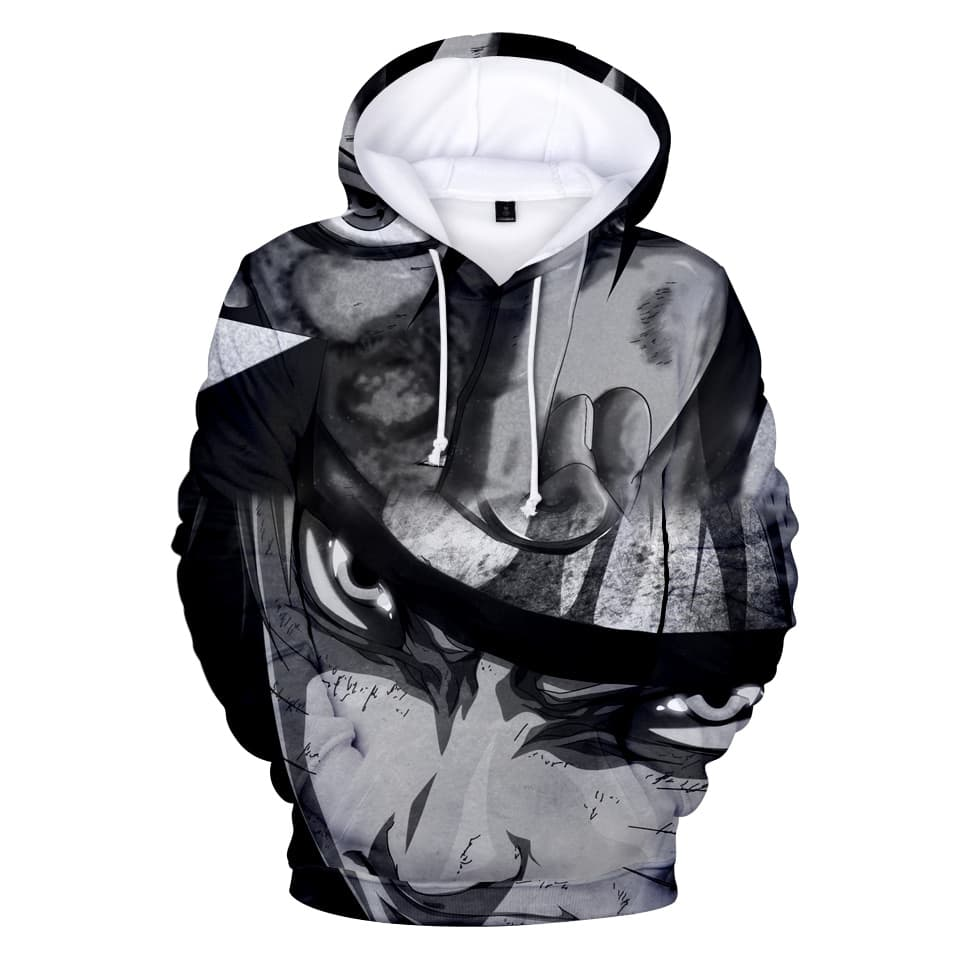 Jual 3d hoodie jacket black n white naruto high quality