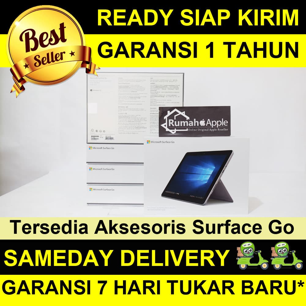 Jual Microsoft Surface GO 128GB / Intel 4415Y / RAM 8GB