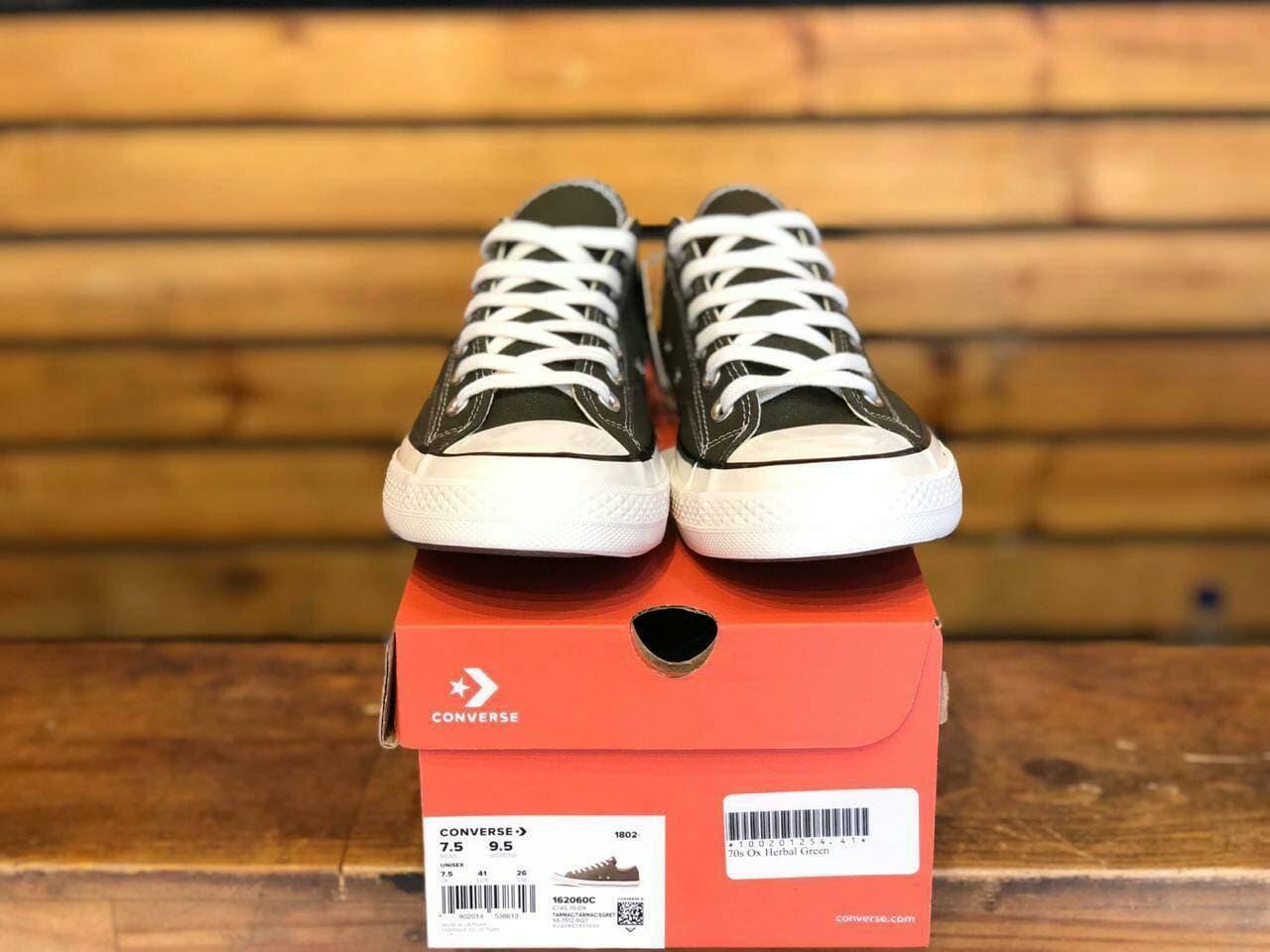 c7d9dcb62ecd Jual Flash Sale Sepatu Sneakers Pria Converse 70s Ox Hrebal Green ...