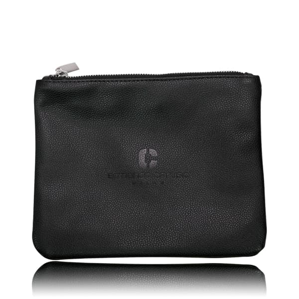 Armando Caruso 9002 Large Leather Brush Bag Black thumbnail