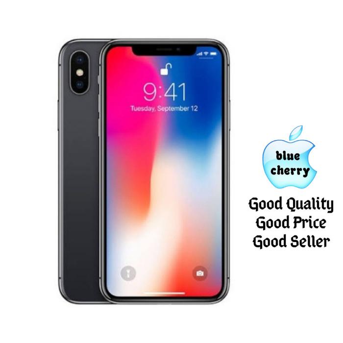 Jual Apple iPhone X 256GB - Perak - blue cherry  1fcbedb75f