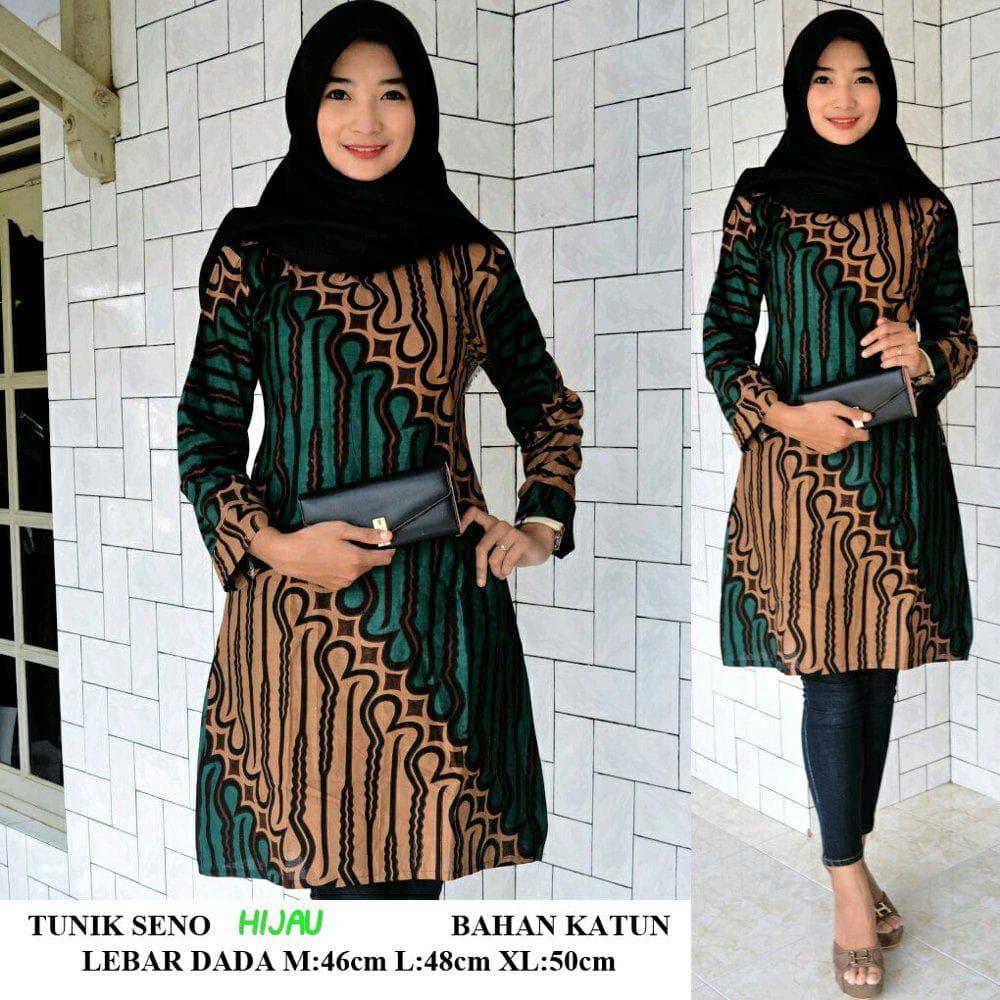 Desain Baju Atasan Batik Wanita Terbaru | Gejorasain
