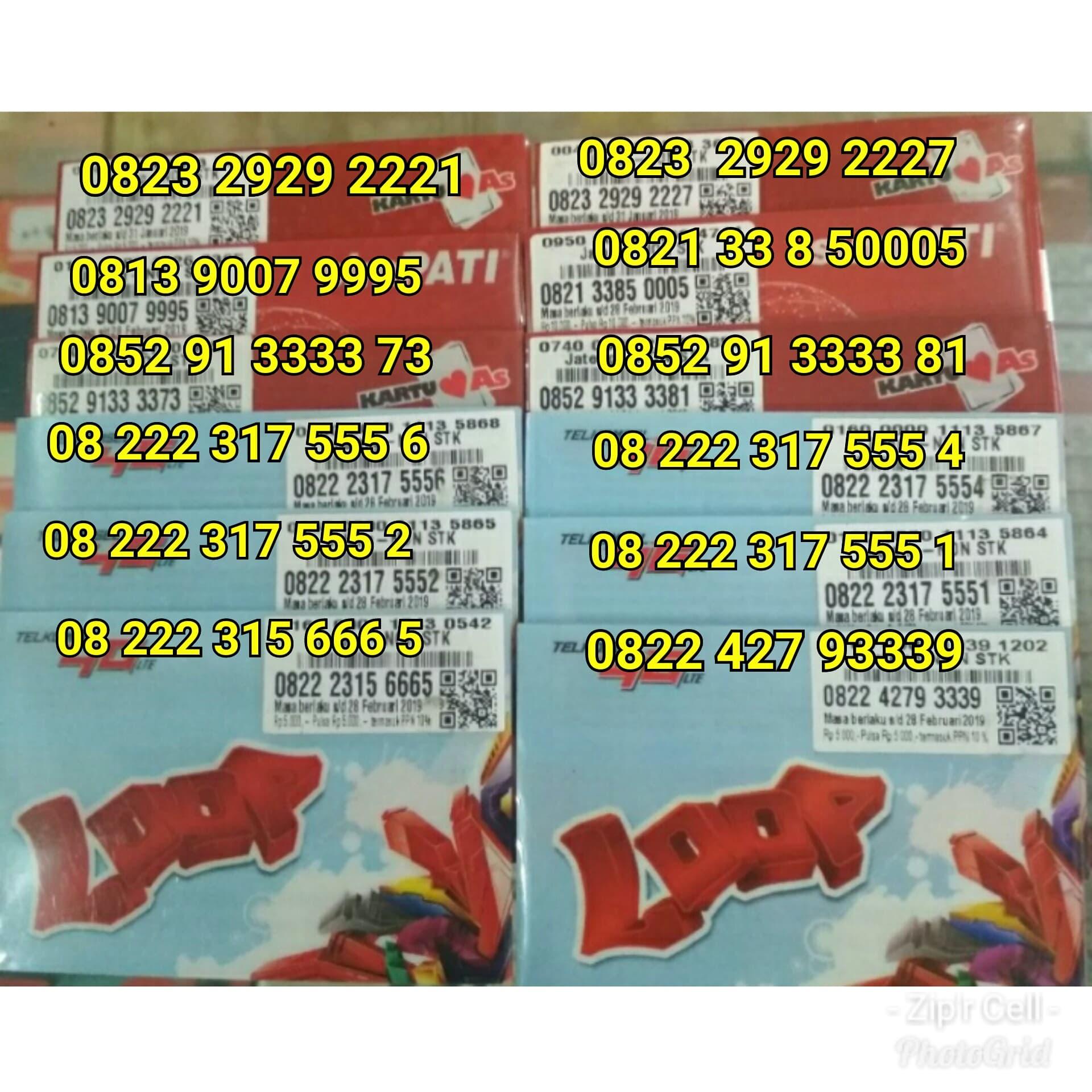 ... Jual Nocan Nomor Cantik Kartu Perdana Telkomsel Simpati As Loop 4G LTE Zip r