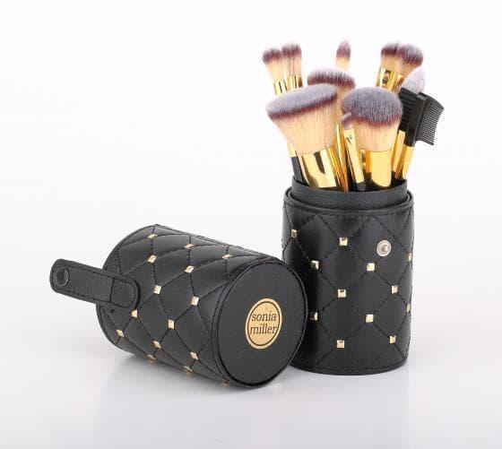 Sonia Miller Cylinder case SBS001BK-11 quilt black brush set thumbnail