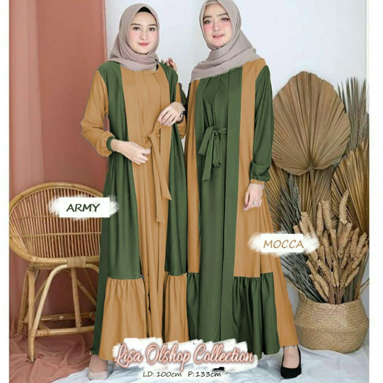 Jual Baju Dress Wanita Muslim Gamis Wanita Terbaru Long Dress