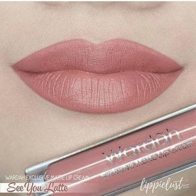 Wardah Exclusive Matte Lip Cream - No. 03. SEE YOU LATTE thumbnail