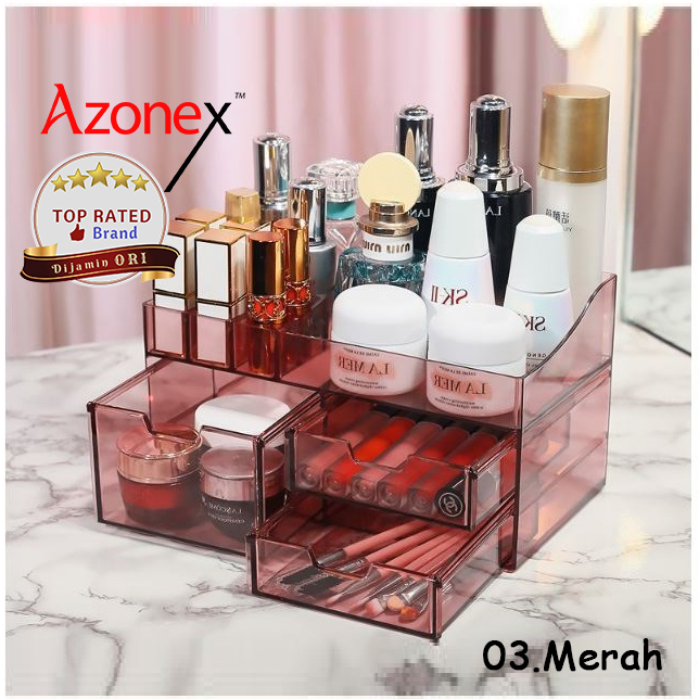 Beauty Case Tempat Penyimpanan Make Up Organizer Kosmetik Telus BCLIC - Merah thumbnail