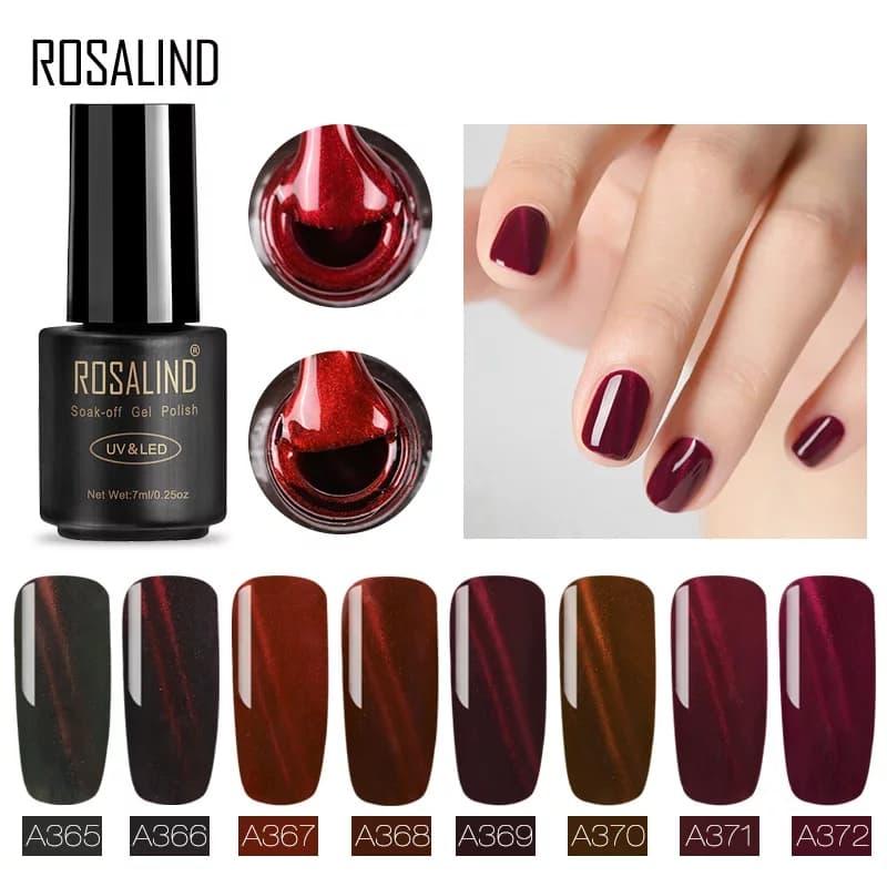rosalind red cat eye nail gel - A361 thumbnail