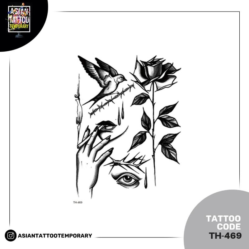 TATTO TEMPORER stiker best 15cm x 21cm ORIGINAL thumbnail