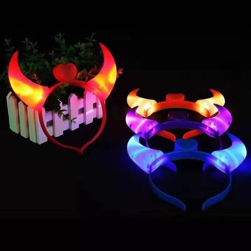 Bando Tanduk Merah Love Bando Lampu Bando Devil Bando Led Bando LED thumbnail