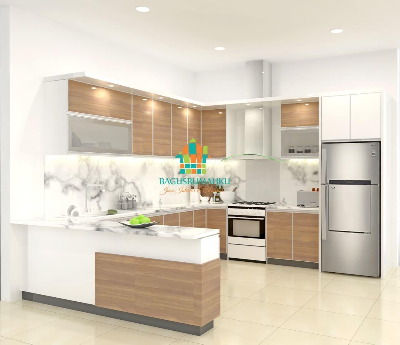 Jual custome furniture bagusrumahku kitchen set mewah kab purwakarta astri bagusrumahku tokopedia