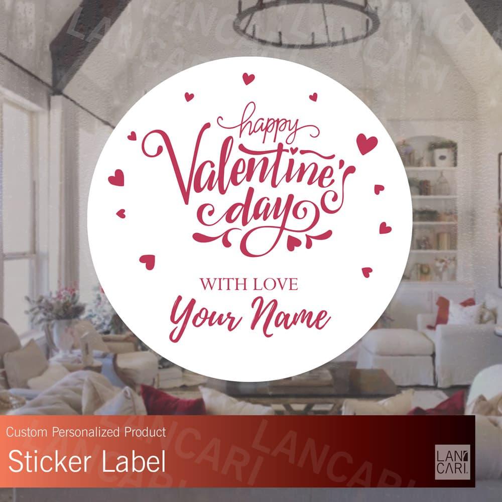 Jual stiker label valentines day coklat kustom custom stickers valentine large dki jakarta lancari tokopedia