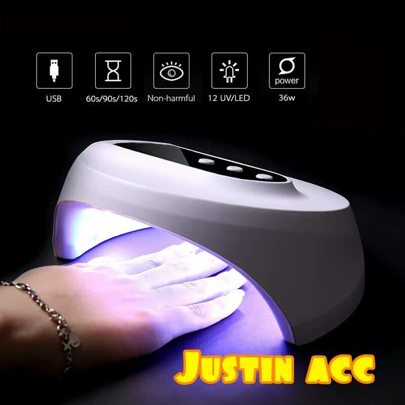 lampu uvled pengering kutek gel kuku 24W-nail art dryer-fototerapi thumbnail