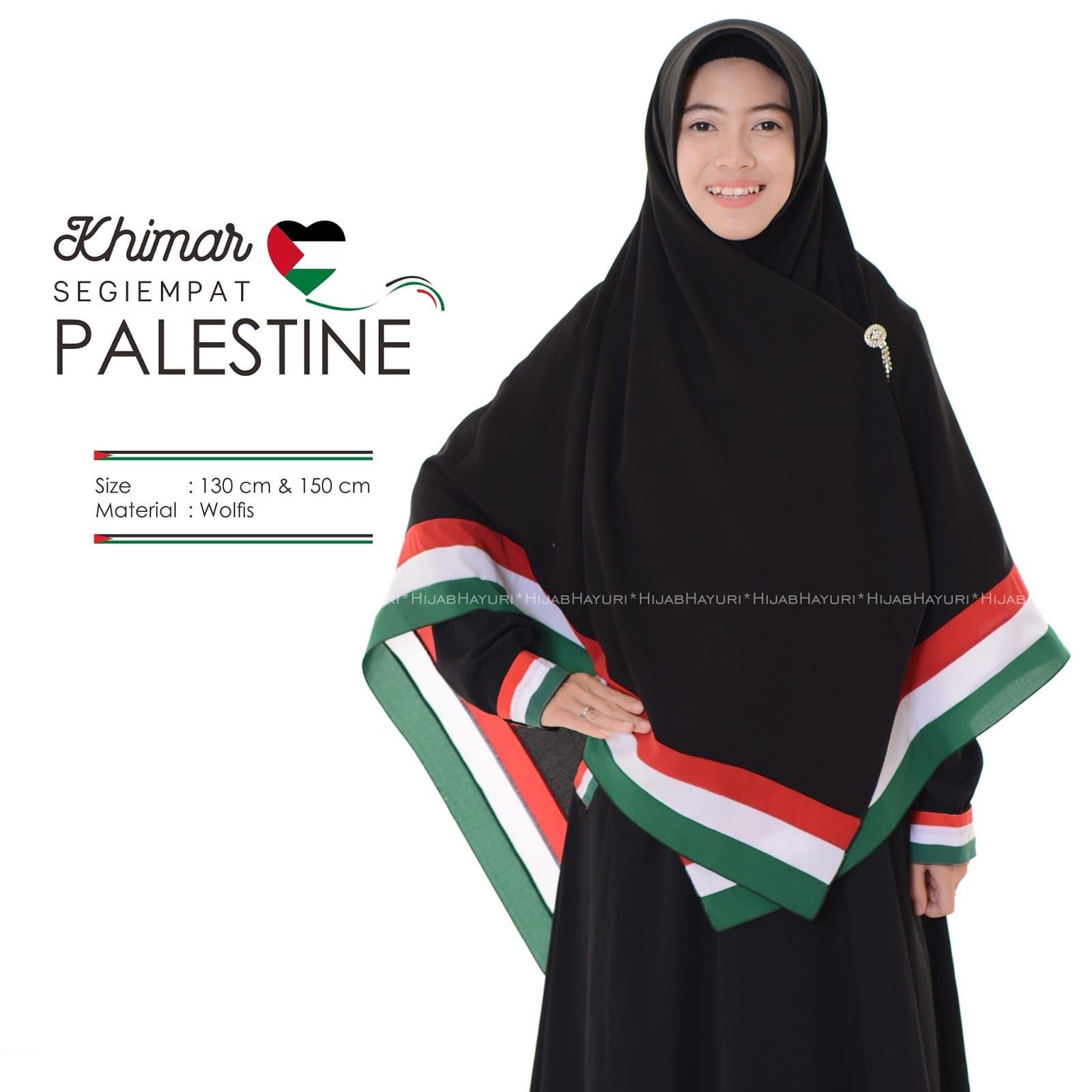 Jual Kerudung palestina 130x130 jilbab jumbo khimar palestina syar'i - assyifafashionshop | Tokopedia