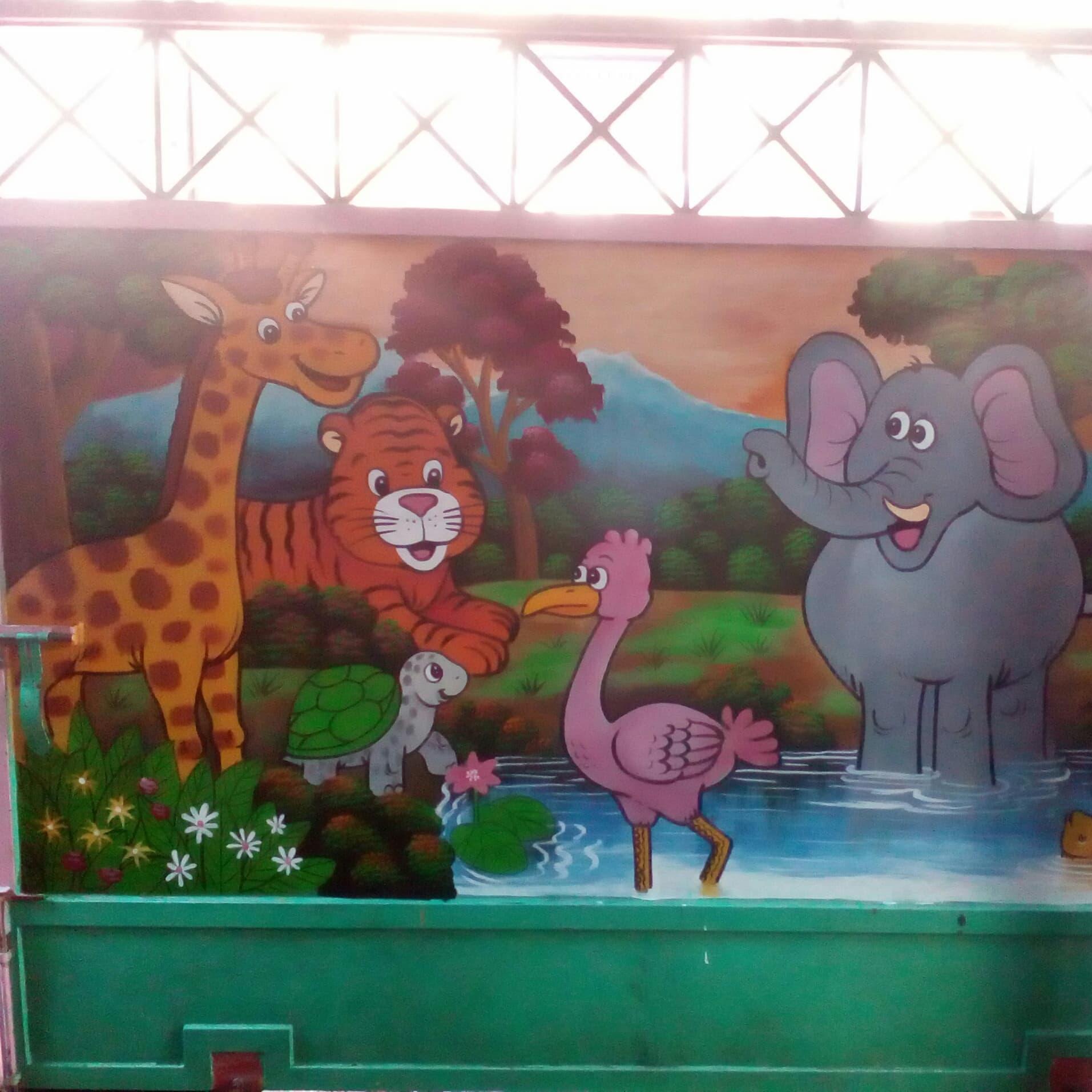 Lukisan Dinding Sekolah Tk Islami Cikimm Com