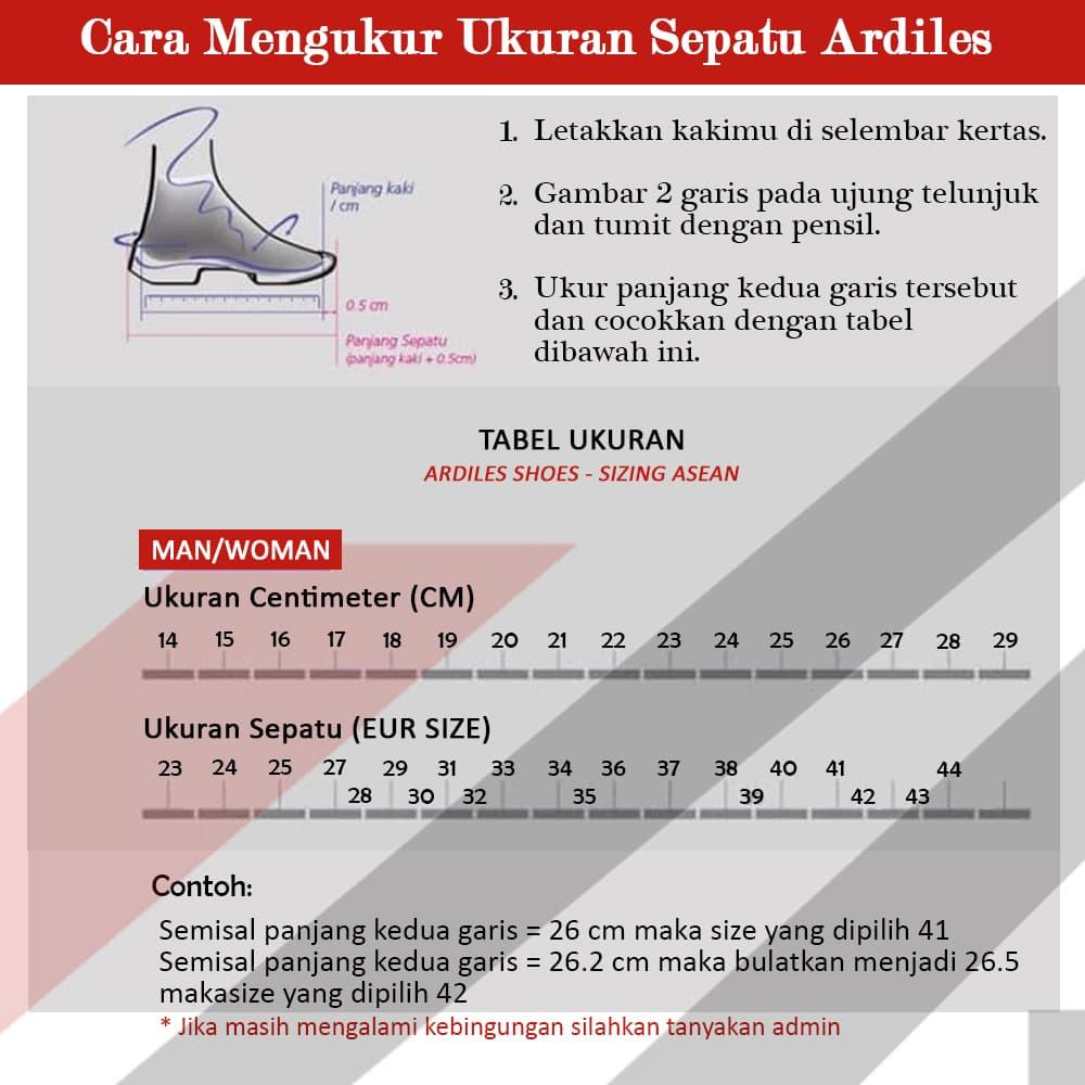 Sepatu Pria Ardiles Sneakers Slip Argon Hitam Hitam