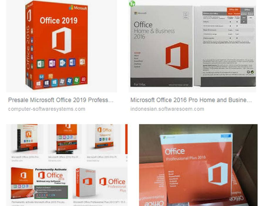 Jual software MS Office 2016 Pro Plus VL X64 MULTi22 JAN 2019