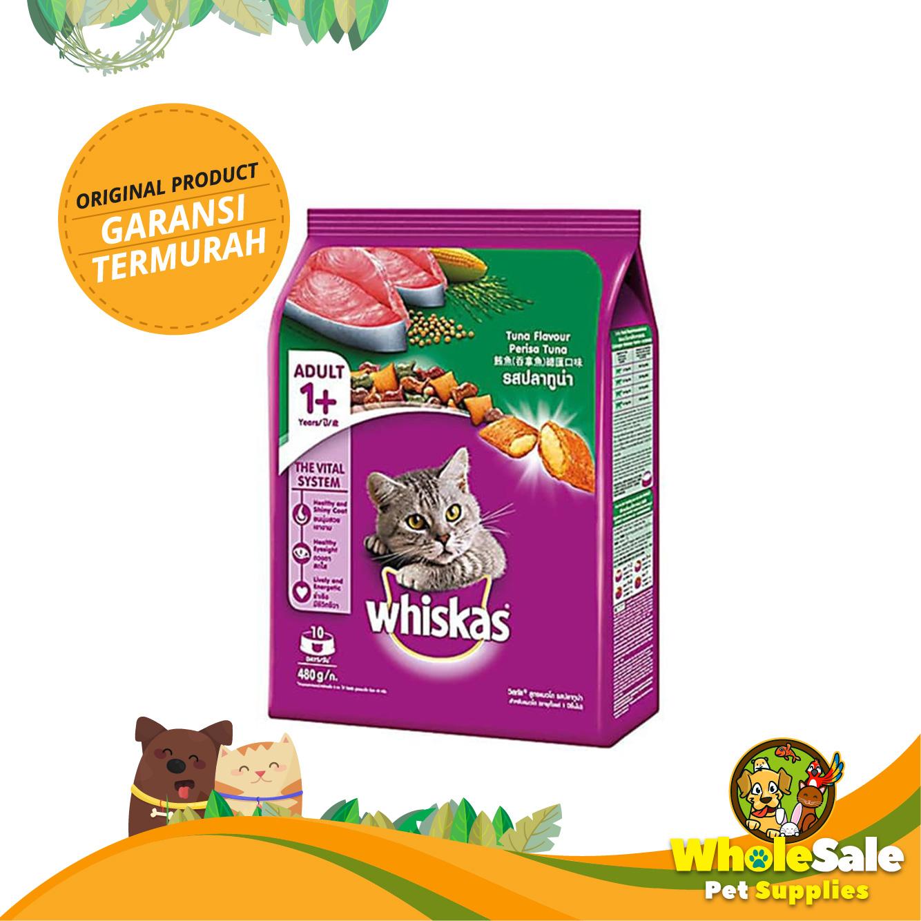 Jual MAKANAN KUCING WHISKAS TUNA 480GR - BEST SELLER - Wholesale Pet Supplies | Tokopedia