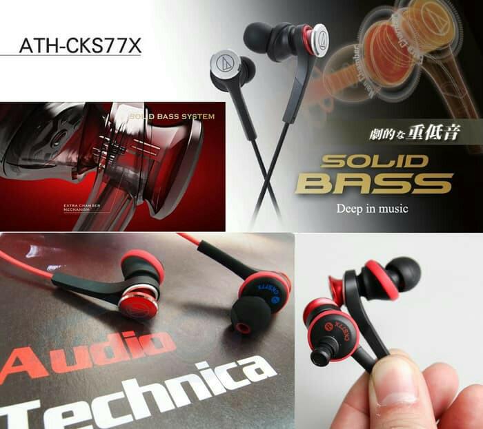 Jual Original Audio Technica ATH-CKS77X Solid Bass Earphone