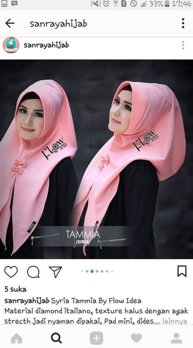 Jual Pastan /Hijab/ Jilbab/ Kerudung Instan Tamia Pita - Kota