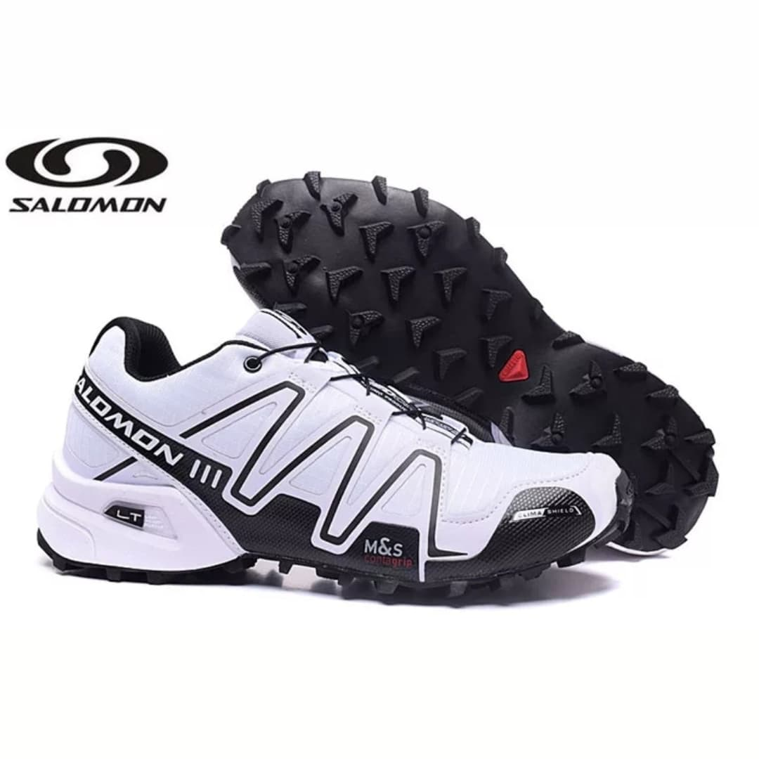 Jual Sepatu Salomon Speedcross 3 Mens Trail Running - Putih lis hitam - no turning back | Tokopedia