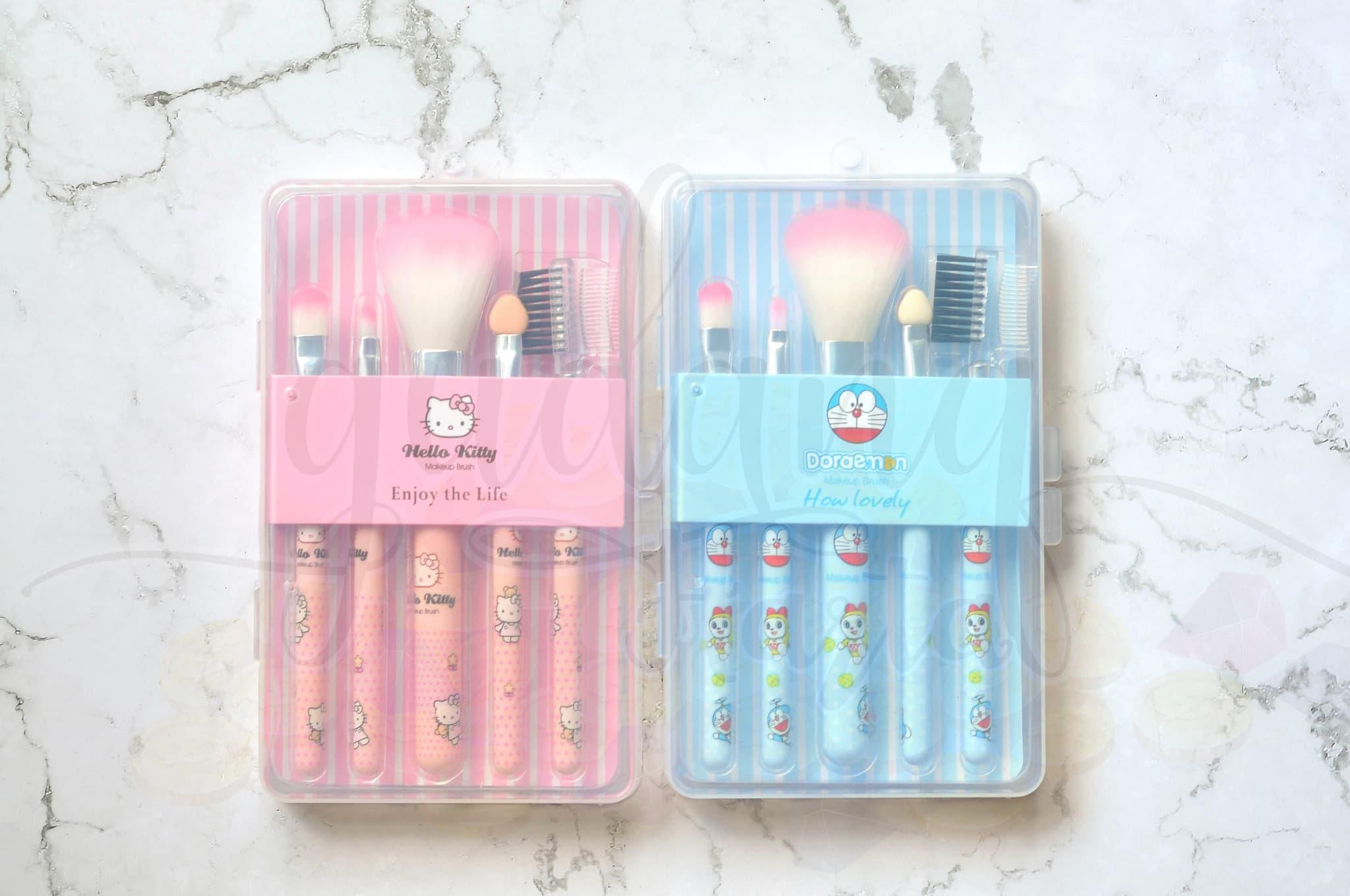 3c0c4b6f2 Jual Make Up Brush Set Hello Kitty Doraemon Isi 5 Kuas Make Up ...