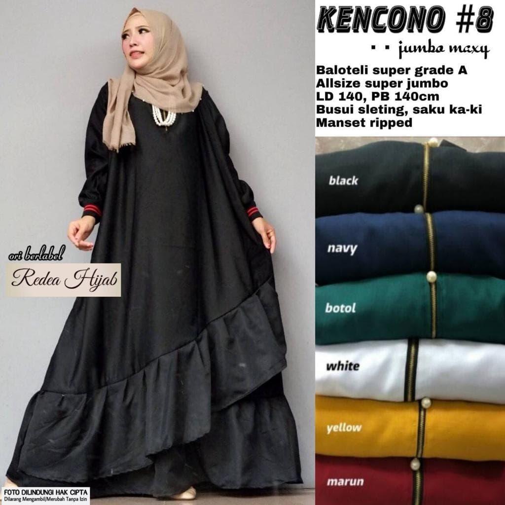 Jual kencono 10 jumbo maxy baju gamis wanita muslim murah gaul