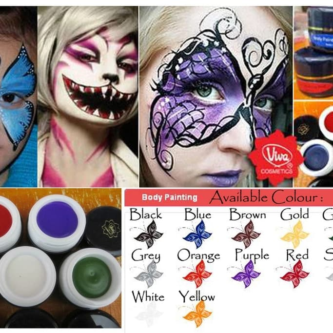 Viva Body Painting 9 Gram Face And Body thumbnail