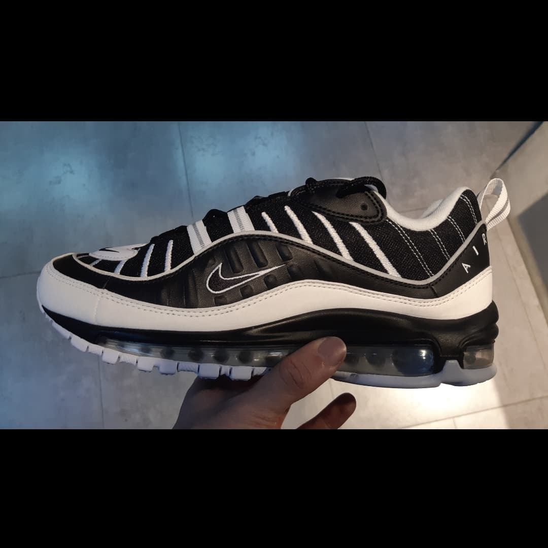 best website 5431c 341ba Jual Nike AirMax 98 OG! Black Red BRED RARE! 100 ...