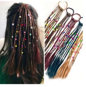 karet kepang rambut palsu fake hair imitasi rambut cute thumbnail