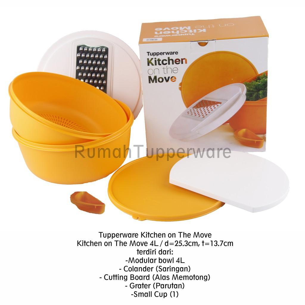 Jual tupperware kitchen on the move dengan box kota administrasi jakarta barat rumahperkakas tokopedia