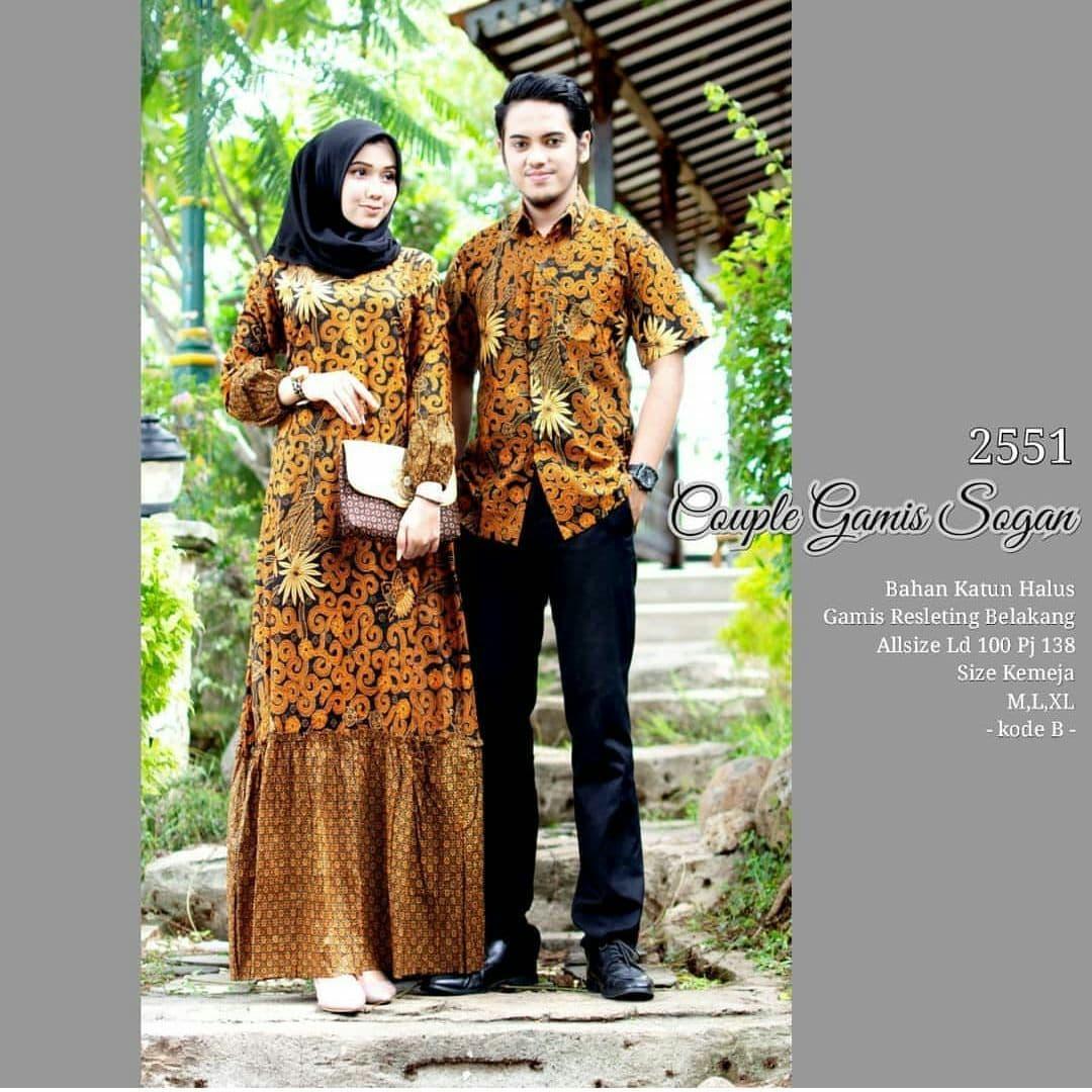 Jual Couple Gamis Sogan Baju Batik Couple Gamis Zara Rempel