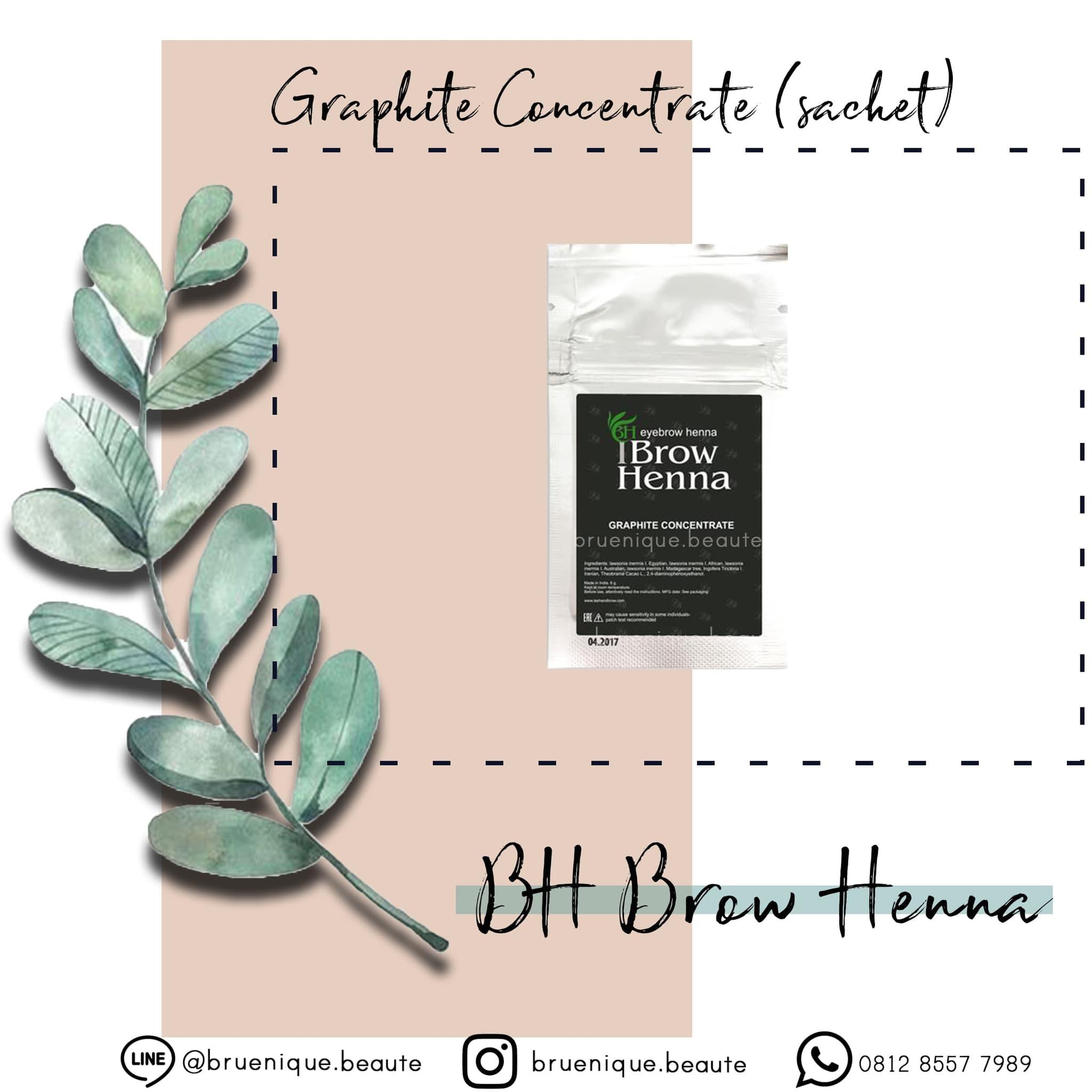 Graphite Concentrate - BH Brow Henna - Bubuk SACHET - by Irina Levchuk - Packaging Baru thumbnail