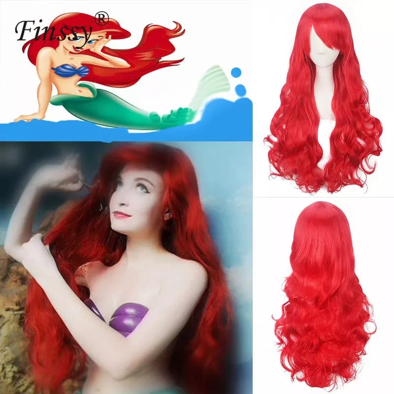 Wig Merah Rambut Anak Little Mermaid thumbnail