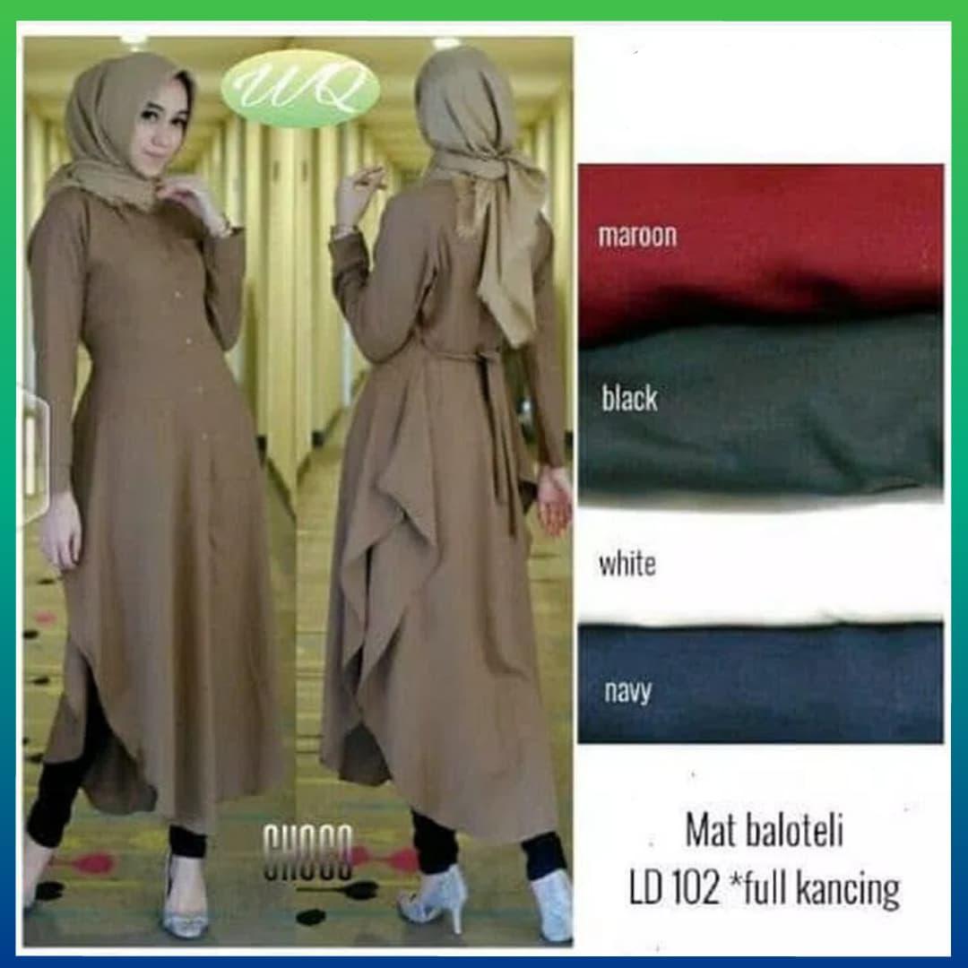 Jual baju gamis syari - atasan wanita muslim aliya tunic murah