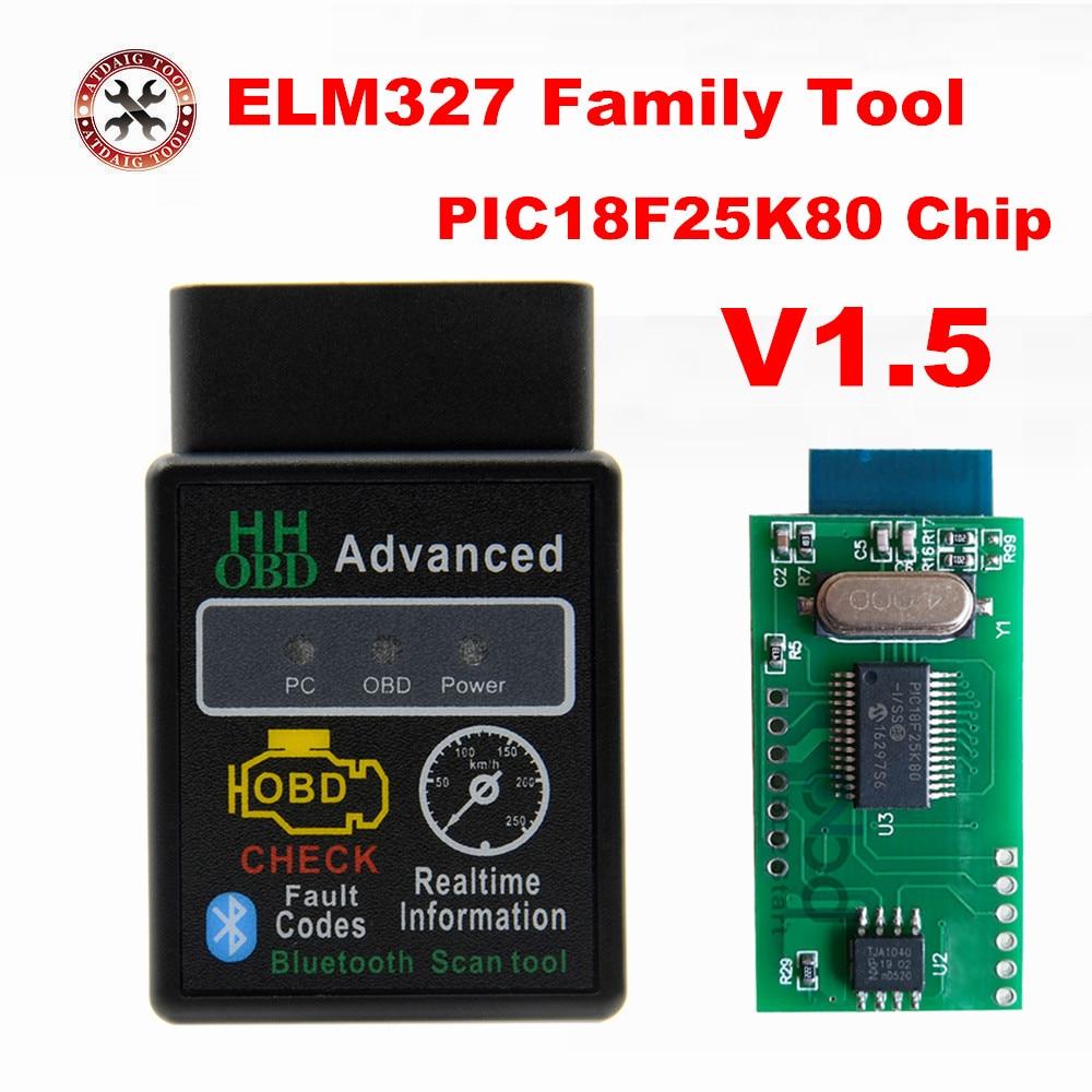 Jual V1 5 ELM327 Bluetooth PIC18F25K80 HH OBD elm 327 1 5