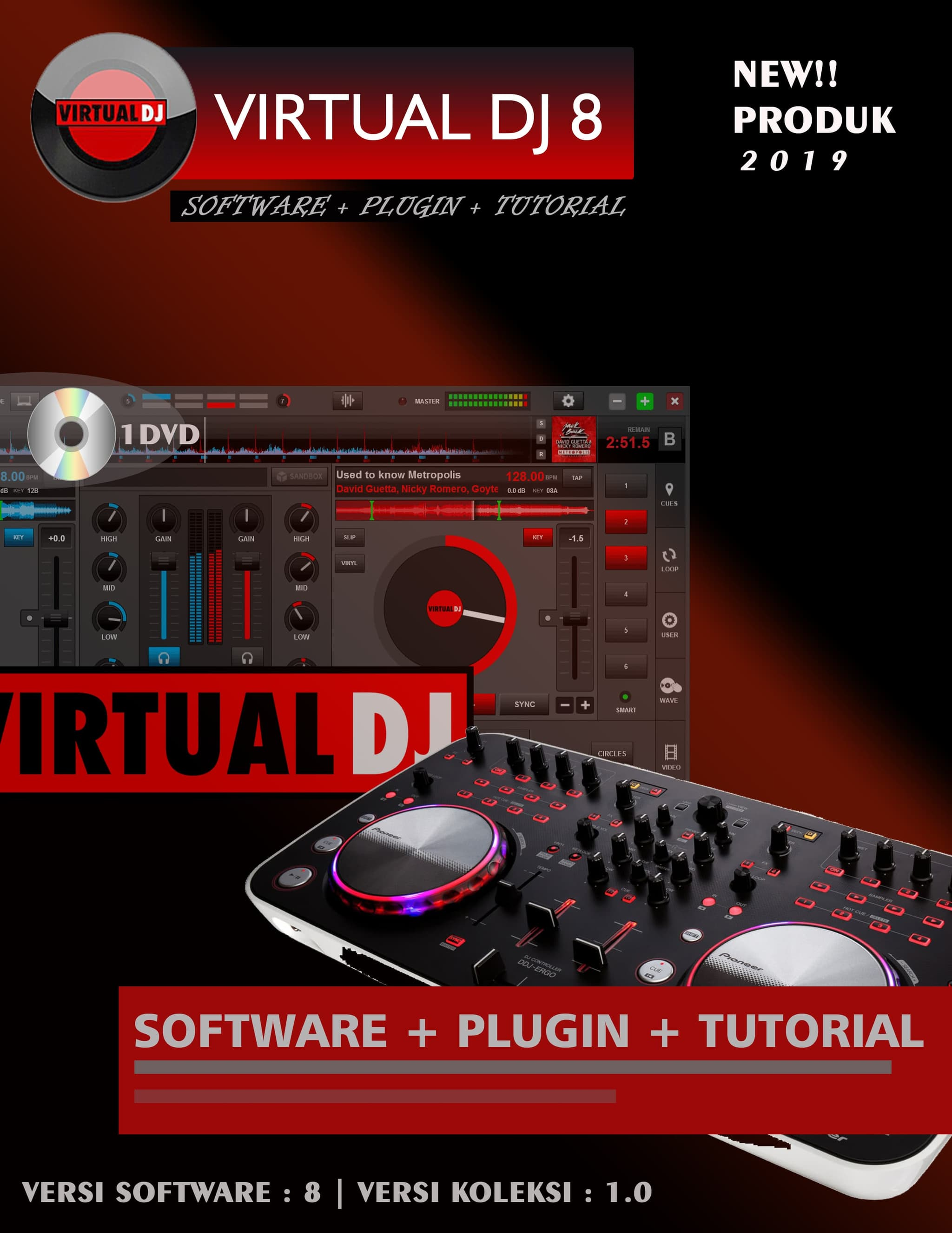 Jual Software virtual DJ lengkap Plugin dan Video tutorial