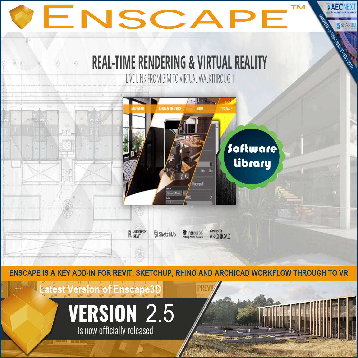 Jual Enscape 3D for Revit - SketchUp - Rhino - ArchiCAD (Latest