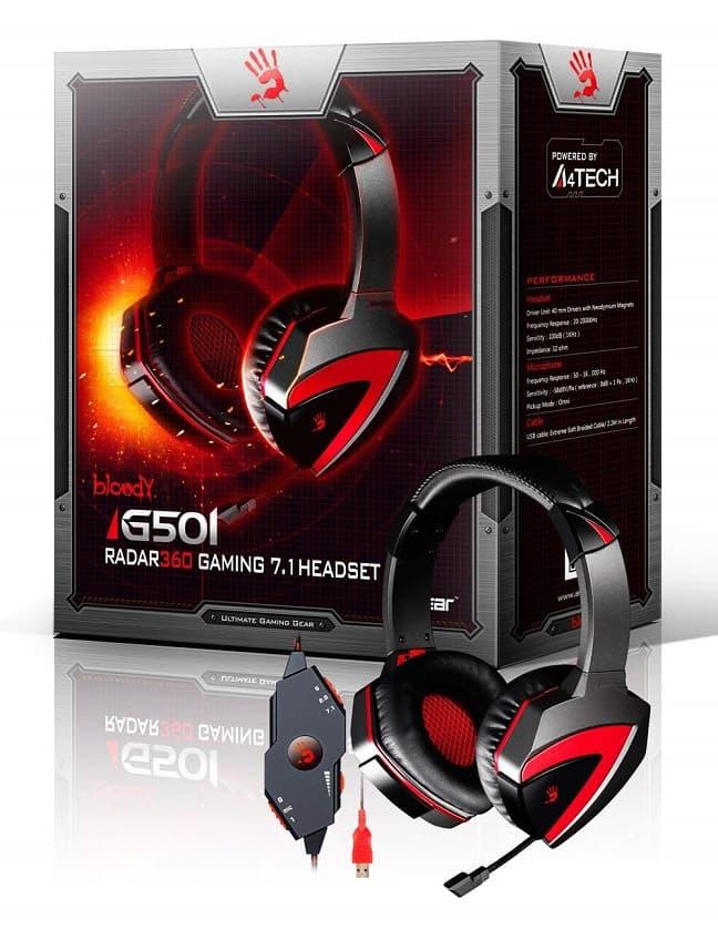 Bloody Gaming G501 (Tone Control Surround 7.1 gaming headset)
