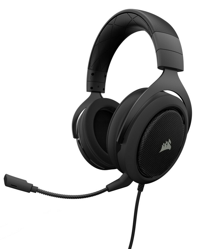 Corsair HS50 Stereo Gaming Headset (Carbon/Green/Blue)