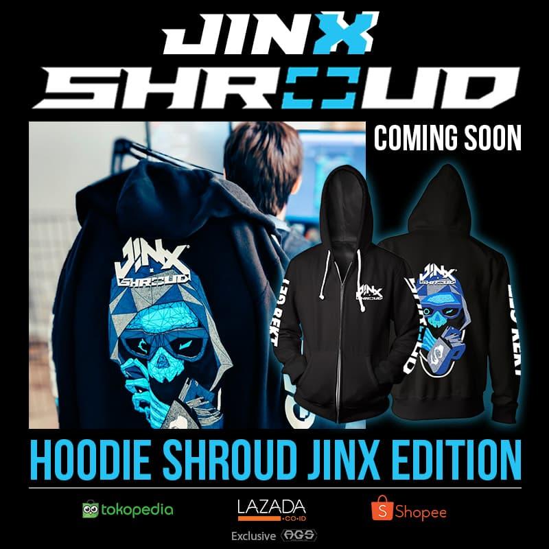 Jual Hoodie SHROUD BLUE JINX | Jaket Gaming Gamers