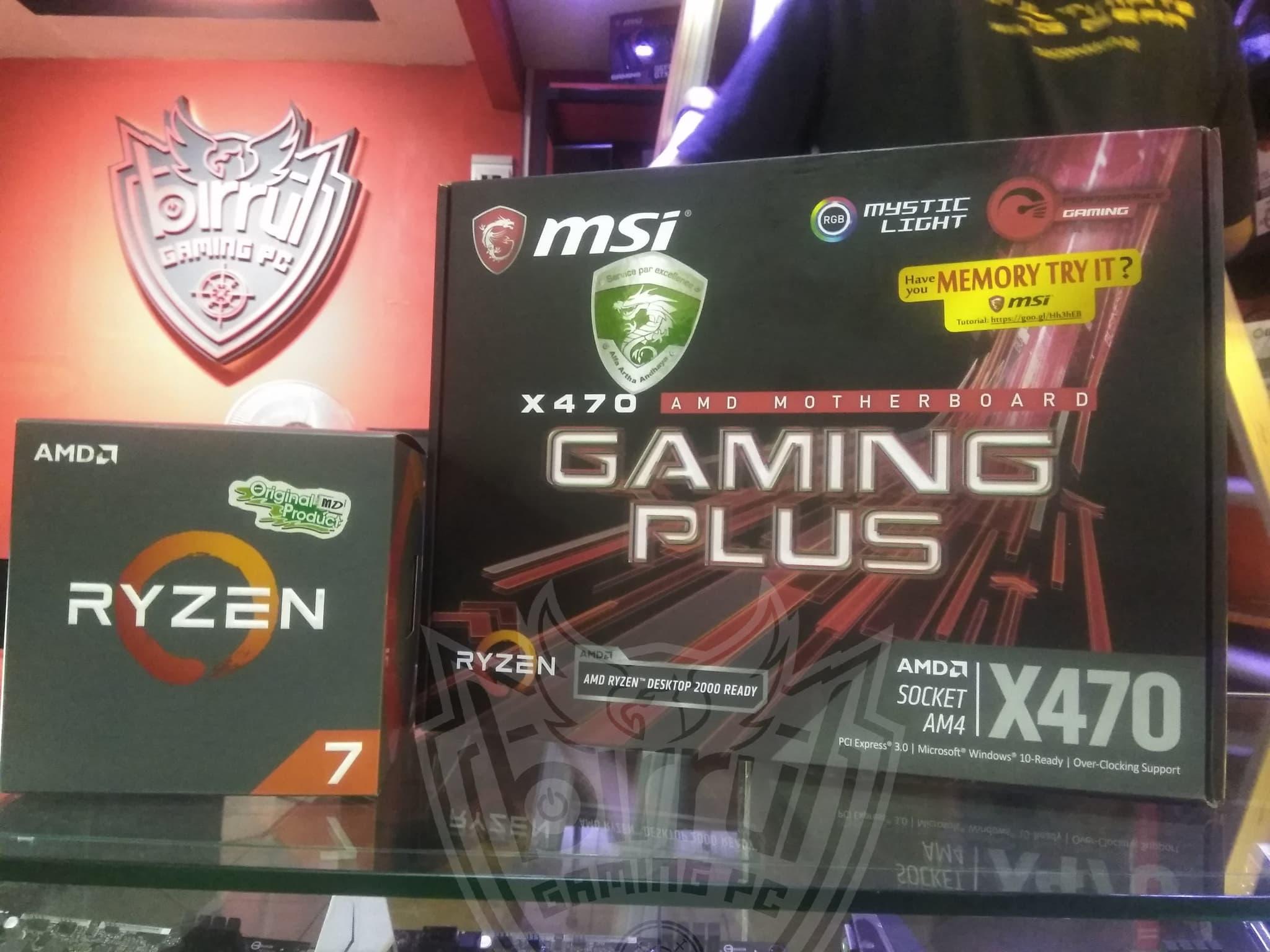 Jual Paket Bundle AMD Ryzen 7 2700 Feat MSI X470 Gaming Plus
