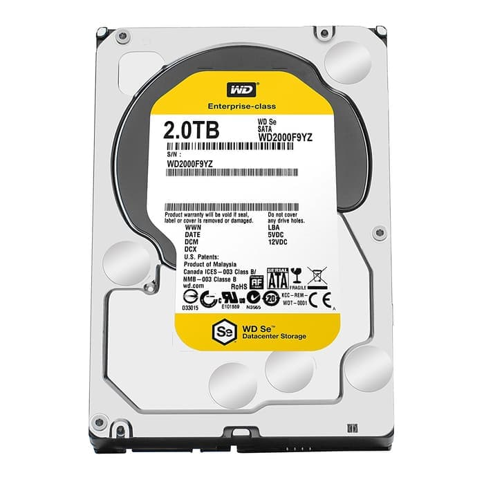 WDC NAS SE 2TB 7200RPM SATA3 - WD2000F9YZ (Ready !!!)