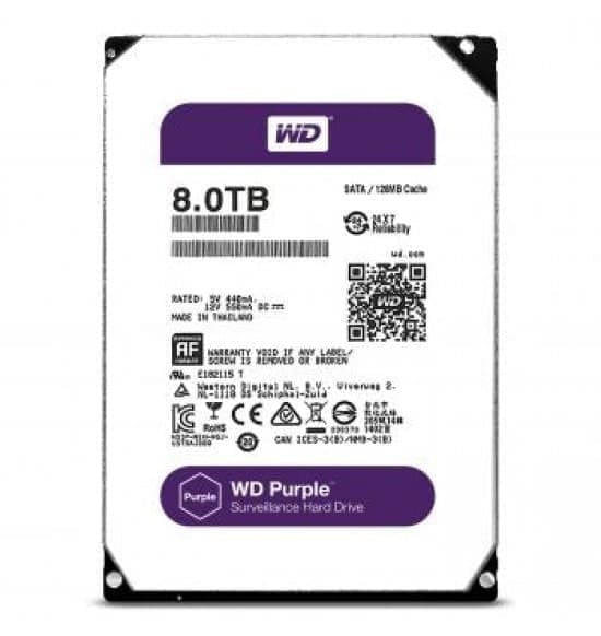 WDC Purple 8TB For CCTV 24 Hours - WD82PURZ - Garansi 3 Th