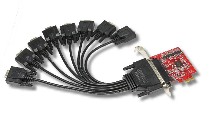 Chronos PCI Express Serial Card 8 Port (9 Pin)